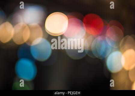 Bokeh Abstract lights. Arrière-plan de fête parfaite.