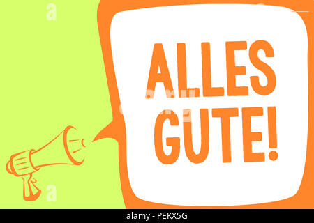 Alles Gute Texte Visible Traduction Allemand Photo Conceptuelle