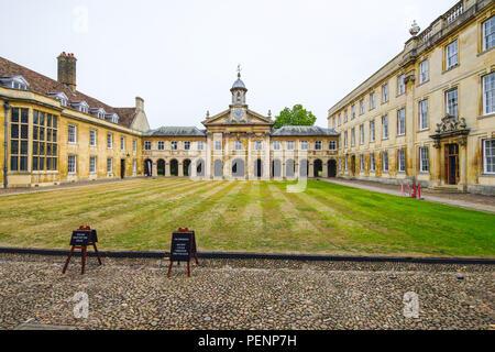 Emmanuel College, Cambridge, Royaume-Uni Banque D'Images