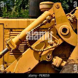 Détail de l'hydraulique du tracteur Banque D'Images