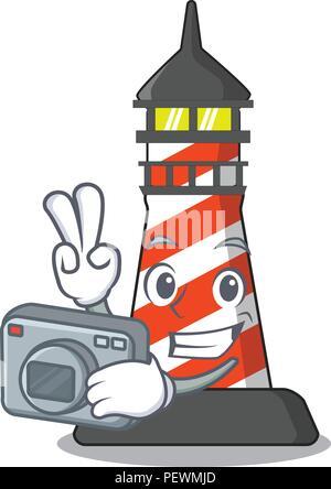 Photographe phare sur la plage mascot Banque D'Images