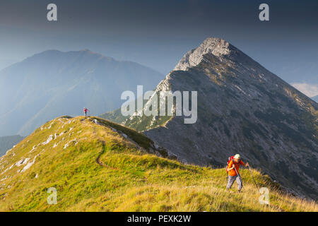 Mont Vogel, parc national du Triglav, en Slovénie Banque D'Images