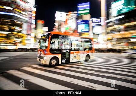 Croisement de Shibuya à Tokyo, Japon Banque D'Images