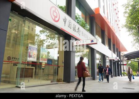 La Banque de Chine à Adelaide propose une variété de services bancaires et financiers à des clients en Australie du Sud, Australie. Banque D'Images