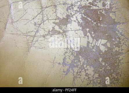 Couleur lait vieux cuir usé couvrant comme arrière-plan Banque D'Images