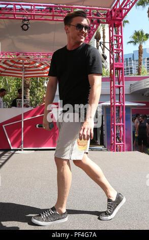 Las Vegas, NV, USA. Août 18, 2018. 18 août 2018 - Las Vegas, Nevada - Jesse McCartney. Jesse McCartney effectue au Flamingo RENDEZ-piscine et Dayclub. Crédit photo: MJT/AdMedia: Crédit Mjt/AdMedia/ZUMA/Alamy Fil Live News Banque D'Images