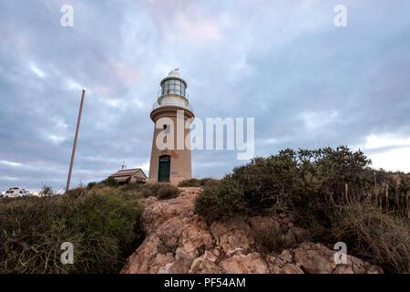 Nuages et Ningaloo Vlaming Head Lighthouse, Exmouth, Cape Range National Park, dans l'ouest de l'Australie, Océanie Banque D'Images