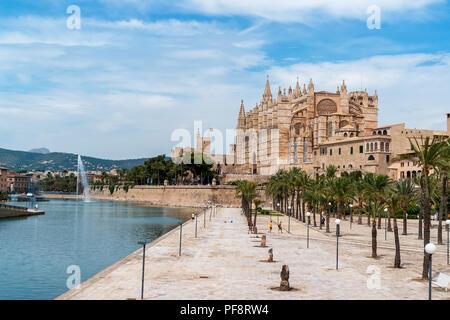 La Seu, la cathédrale de Palma de Majorque - Iles Baléares, Espagne Banque D'Images