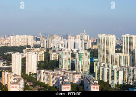 80 pour cent de la population vivaient dans des immeubles de Singapour HDB/maisons construites par le gouvernement Banque D'Images