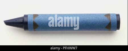Crayon bleu, Close up Banque D'Images