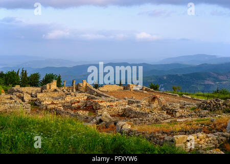 Ville ancienne Qarier Byllis, Fier, Albanie Banque D'Images
