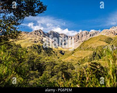 Nouvelle Zélande, île du Sud, région de Canterbury, Arthur's Pass National Park, Arthur's Pass Banque D'Images