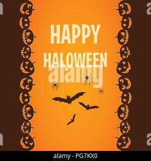 Happy Halloween. Poster, billet, modèle. Vector illustration Banque D'Images