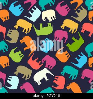 Vector Abstract Elephant Dans Le Style Indien Mehndi Vector Dessin
