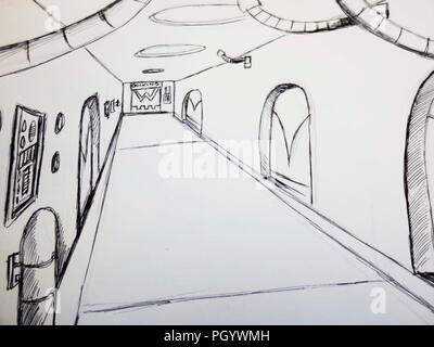 Corridor de scifi