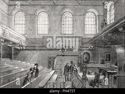 Vue de l'intérieur de Haute Cour de justicier, Édimbourg, Écosse, 19e siècle Banque D'Images