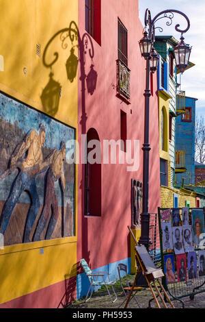Caminito. La Boca, Buenos Aires, Argentine Banque D'Images