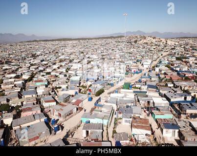 Vue aérienne sur une ville située près de Cape Town, Afrique du Sud Banque D'Images