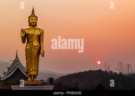 Statue de Bouddha dans le Laos, d'Oudomxay