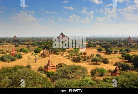 Temples de Bagan, Myanmar Banque D'Images