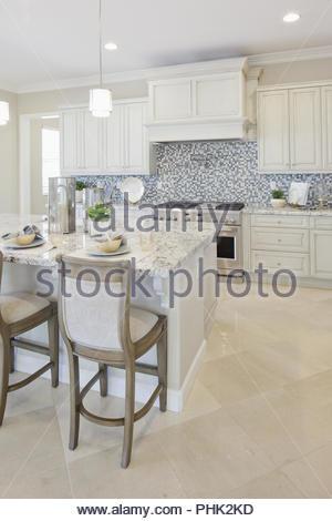 Cuisine blanc Banque D'Images