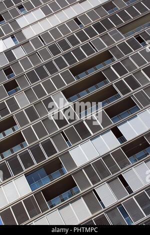 Détail de la tour dans le quartier de Poblenou, Barcelone, Espagne Banque D'Images