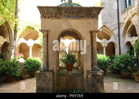 En Ravello Villa Cimbrone village sur la Côte d'Amalfi, Italie Banque D'Images