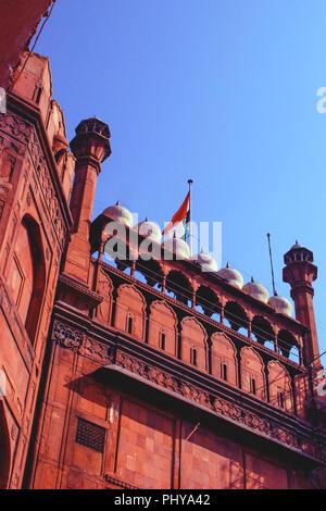 Site du patrimoine mondial de l'UNESCO, le Fort Rouge, New Delhi, Inde. Banque D'Images