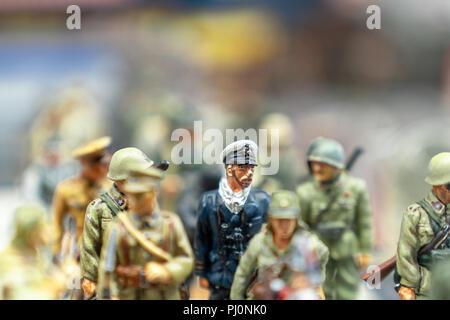 Ankara, 22018 Turkey-September: vies des soldats de plomb dans un marché aux puces Banque D'Images