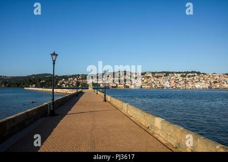 Argostoli, la capitale de Céphalonie île grecque Banque D'Images