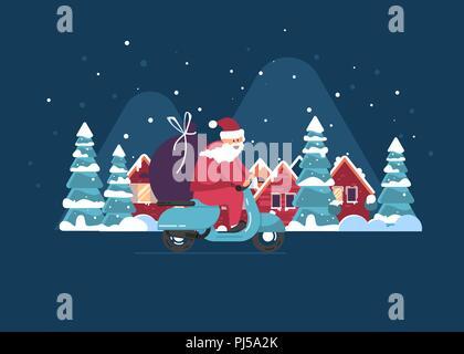 Le Père Noël Et Bonhomme De Neige Dessin Animé Mignon Signe