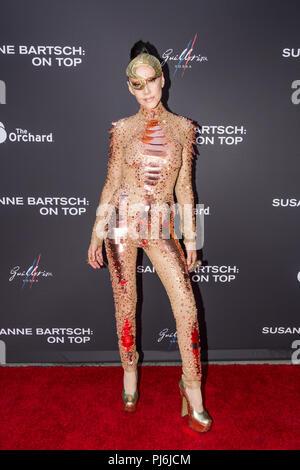 Los Angeles, USA. Le 4 septembre, 2018. Susanne Bartsch pose sur le tapis rouge à Los Angeles premiere de Susanne Bartsch: Sur le dessus. ©Vladimir M. Yazev/Alamy Live News Banque D'Images