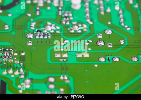 Carte de circuit imprimé. La technologie matérielle de l'ordinateur électronique.