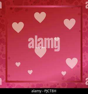 Carte d'amour Saint Valentin Banque D'Images