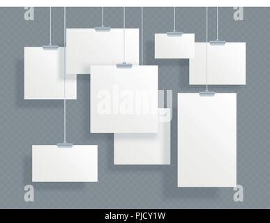 Photo Photo gallery papier, cadre suspendu Banque D'Images