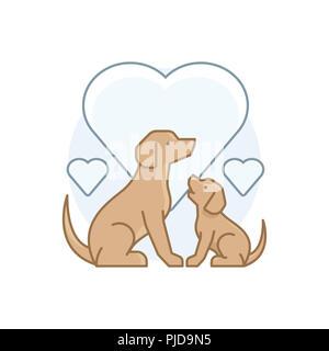 Illustration de chiens dans diverses activités