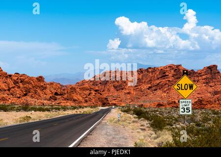 Vallée de Feu Park Nevada Août 2018 Banque D'Images