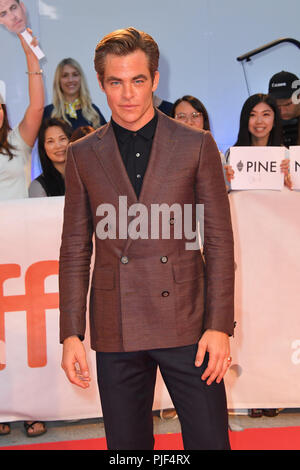 Toronto, Ontario, Canada. Sep 6, 2018. CHRIS PINE assiste à la 'Outlaw King' premiere pendant le Festival International du Film de Toronto 2018 au Roy Thomson Hall. Crédit : Igor/Vidyashev ZUMA Wire/Alamy Live News Banque D'Images