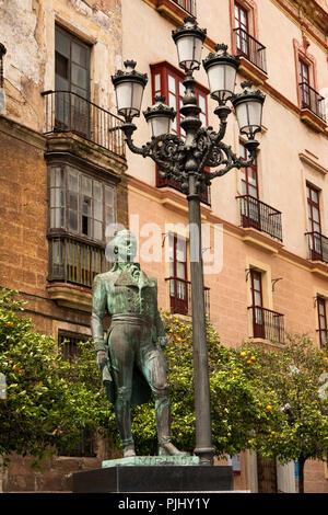 Espagne, Madrid, Plaza Arguelles; Statue de Francisco de Miranda, héros de l'Indépendance américaine, est mort à Cadix 1816