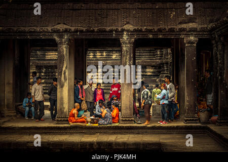L'Asie, Cambodge, Angkor Wat Banque D'Images