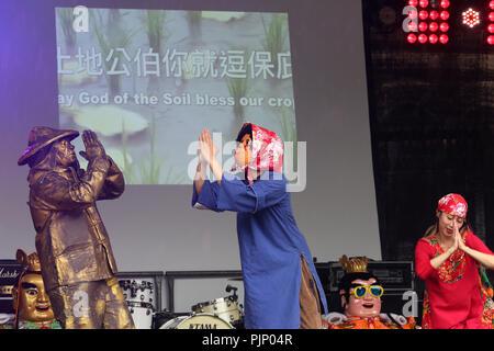 Manchester, UK. 8e Septembre, 2018. Manchester Passeport pour Taïwan Festival, le plus grand festival de Taiwan au Royaume-Uni, qui apporte de la nourriture et la musique de Taiwan, de la ville, Albert Square, Manchester , le 8 septembre, 2018 (C)Barbara Cook/Alamy Live News Banque D'Images