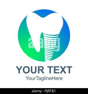 Icône logo dentaire. Télévision illustration de dental logo vector icône pour web design Banque D'Images