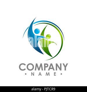 Résumé Les gens des symboles et conception logo vector collection Banque D'Images