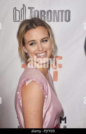 "Toronto, Canada. 09Th Nov, 2018. Taylor Schilling, assiste à la première de ""public"" au cours de 2018 Toronto International Film Festival, au Roy Thomson Hall le 9 septembre 2018 à Toronto, Canada. Crédit : Est/media/Alamy Punch Live News Banque D'Images"