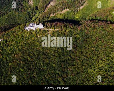 Photographie aérienne château Tematin Banque D'Images