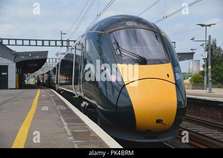 Classe GWR 800 feuilles de train électrique Didcot pour Worcester Banque D'Images