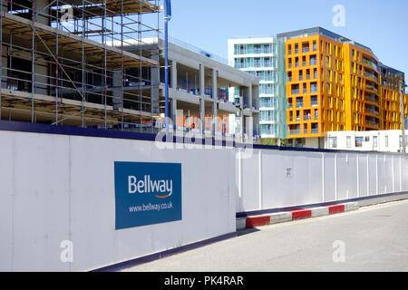 Greenwich, Londres. Appartement de luxe au bord de la nouvelle construction Bâtiments en construction. Banque D'Images