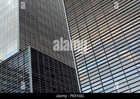 Détail de tours dans le quartier de Poblenou, Barcelone, Catalogne, Espagne. Banque D'Images