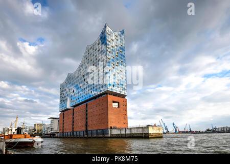 Elbe Philharmonic Hall Elbphilharmonie à Hambourg, Allemagne Banque D'Images