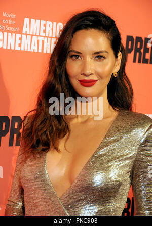Hollywood, Californie, USA. 12 sept 2018. L'actrice Olivia Munn assiste à la 20th Century Fox's 'l' événement Projection spéciale le 12 septembre 2018 à l'Egyptian Theatre d'Hollywood, Californie. Photo de Barry King/Alamy Live News Banque D'Images